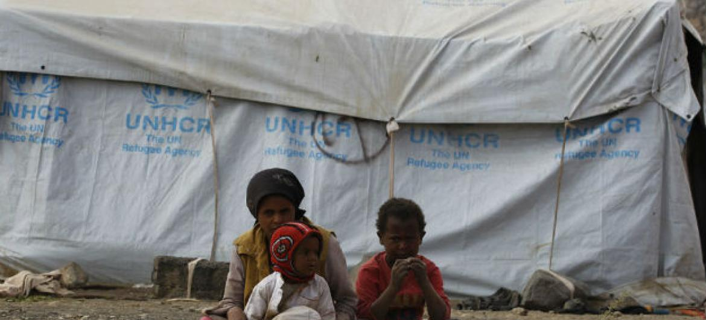 Civis desalojados no Iémen. Foto: Acnur