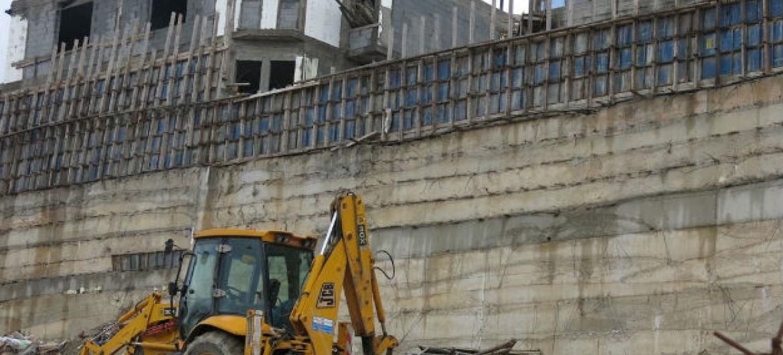 Construção em assentamento da Cisjordânia. Foto:Irin/Annie Slemrod (Arquivo)