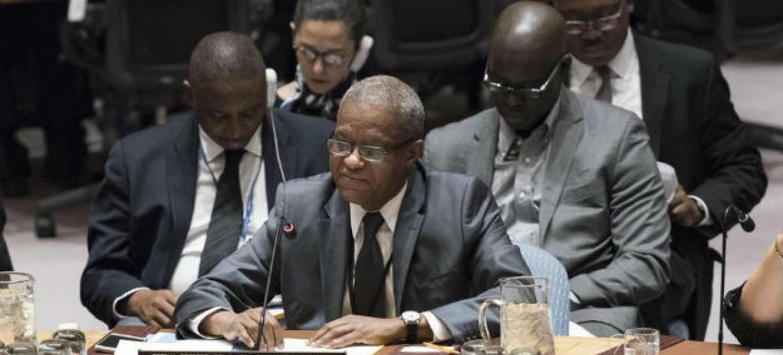 Maman Sidikou no Conselho de Segurança, nesta terça-feira, 21 de março. Foto: ONU/Mark Garten