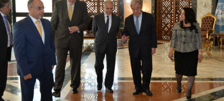 António Guterres no Iraque. Foto: UNAMI
