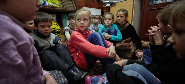 Crianças no leste da Ucrânia. Foto: Unicef/UN053119/Zmey