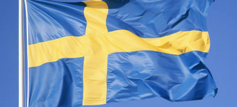 Bandeira da Suécia.