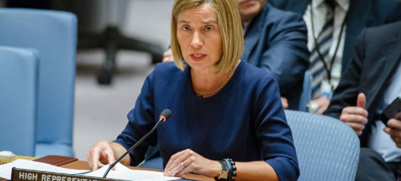 Federica Mogherini. Foto: ONU/Manuel Elias