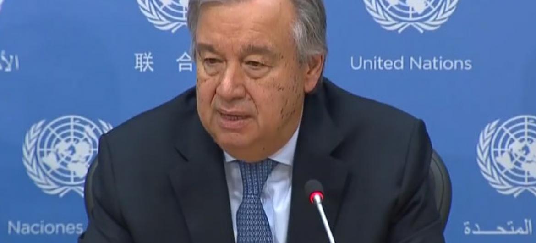 Secretário-geral da ONU, António Guterres.