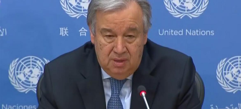 Guterres enviou condolências ao governo ao povo de Burquina Fasso. Foto: Reprodução vídeo ONUTV