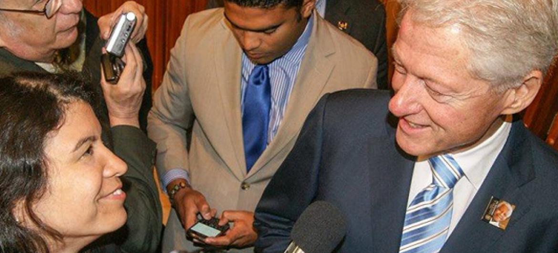 Bill Clinton fala à ONU News Português sobre amizade com Nelson Mandela. Foto: Eleutério Guevane