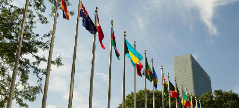 Entrada da sede da ONU em Nova Iorque. Foto: ONU//Rick Bajornas