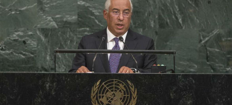 Primeiro-ministro de Portugal, António Costa, discursou na Assembleia Geral da ONU nesta quarta-feira, 20 de setembro. Foto: ONU/Cia Pak