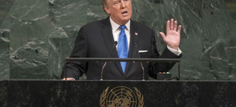 Presidente dos Estados Unidos, Donald Trump. Foto: ONU/Cia Pak