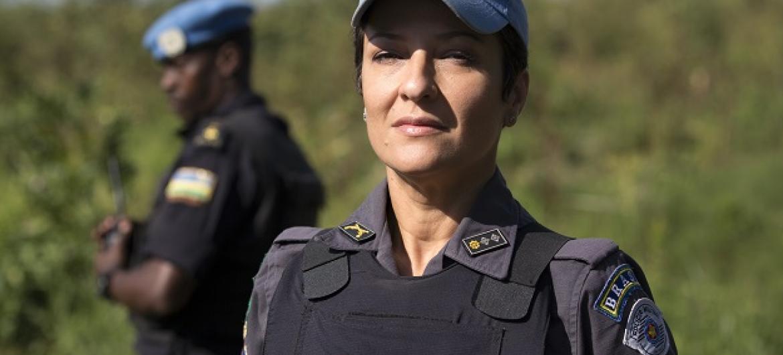 Major Fernanda Santos tem experiência de 26 anos na Polícia Militar do Estado de São Paulo. Foto: Unmiss.