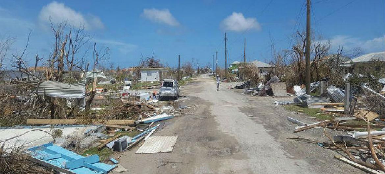 Danos causados a Antígua e Barbuda pelo Furacão Irma em 8 de setembro. Foto: Undac/ Silva Lauffer