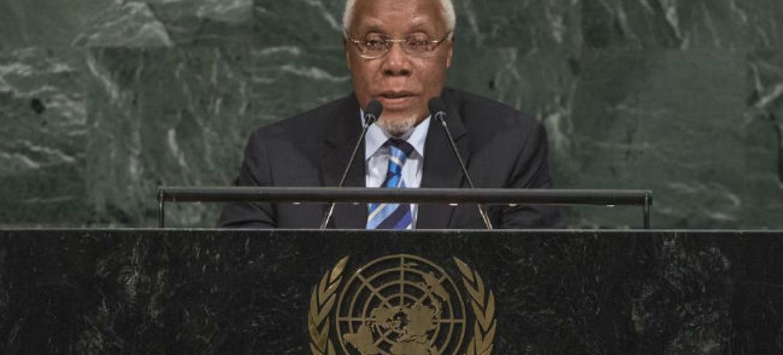 Embaixador Ismael Martins em discurso na Assembleia Geral. Foto: ONU/Cia Pak