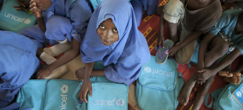 Cerca de 57% das escolas estão fechadas no estado de Borno, na Nigéria. Foto: Unicef/Naftalin