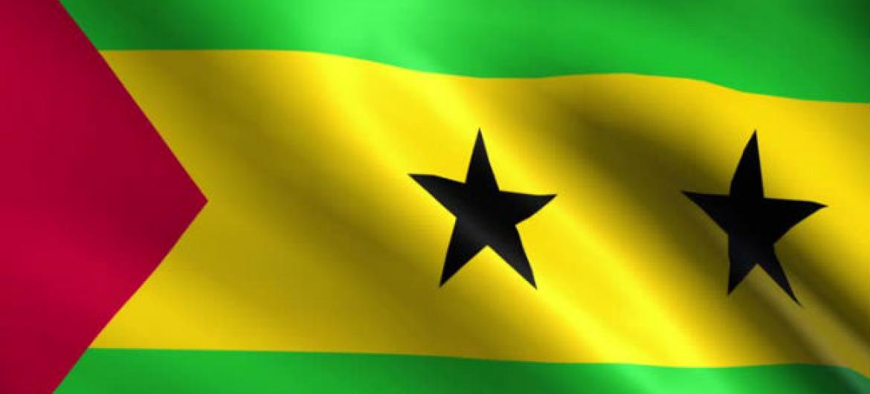 Bandeira de São Tomé e Príncipe.