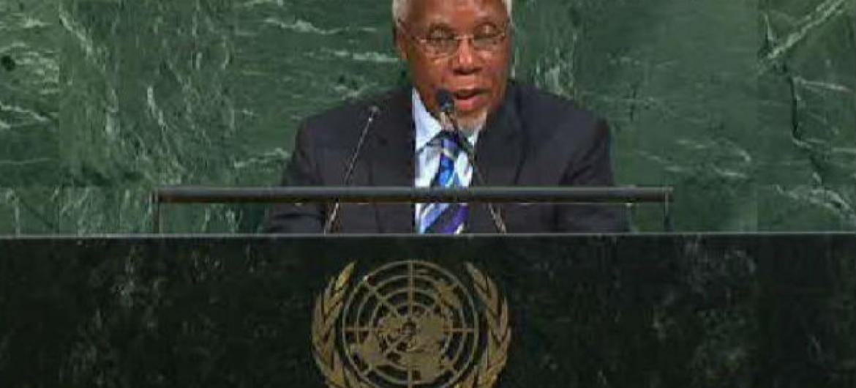 Embaixador de Angola junto às Nações Unidas, Ismael Martins. Imagem: Reprodução vídeo
