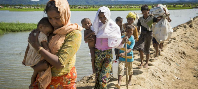 655 mil rohingya já estão em Bangladesh. Foto: Acnur/Roger Arnold
