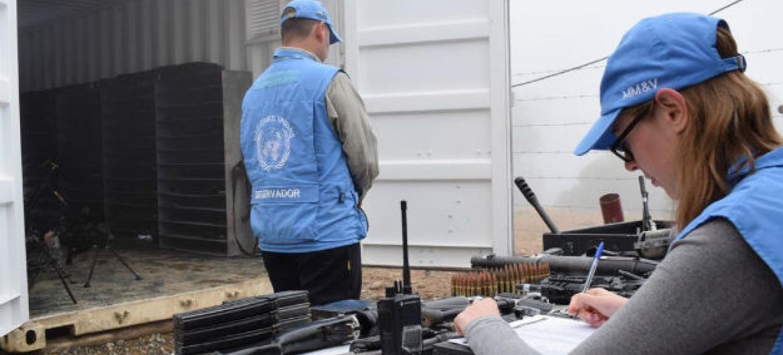 Observadores internacionais na Colômbia. Foto: Missão da ONU na Colômbia
