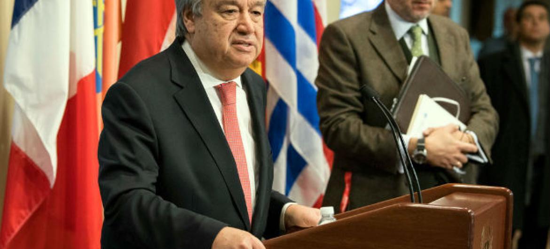 Secretário-general da ONU, António Guterres, anunciou participação na Conferência das Nações Unidas sobre Mudança Climática, COP 23, em Bonn. Foto: ONU/Eskinder Debebe