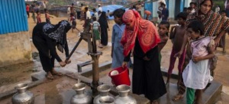 Unicef  está aumentando ações para distribuir purificadores e tratar a água. Foto: Unicef//Brown