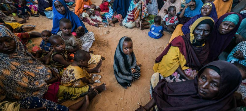 Migrantes em Mogadíscio, Somália. Foto: Ocha/Giles Clarke