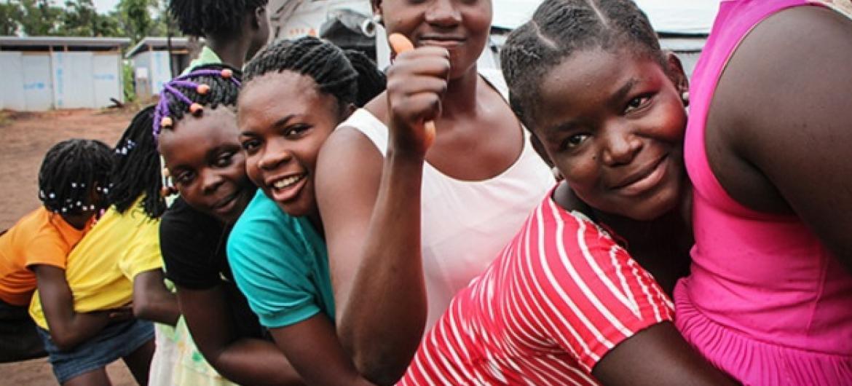 Espaço beneficia meninas refugiadas em Angola. Foto Unfpa: Tiril Skarstein.