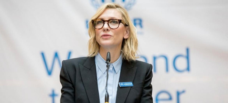 Cate Blanchett falou a centenas de funcionários do Acnur, em Genebra. Foto Acnur: Susan Hopper