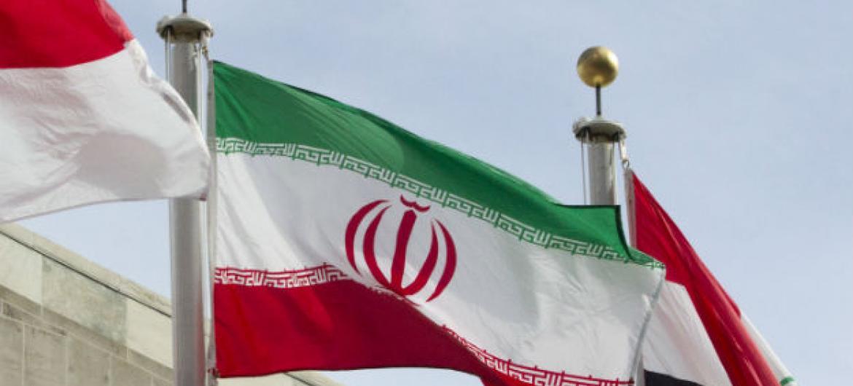 Bandeira do Irã. Foto: ONU/Loey Felipe