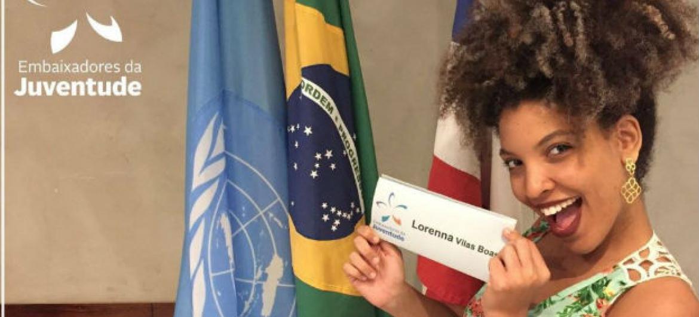 Lorenna Vilas Boas estará no Ecosoc. Foto: Unodc