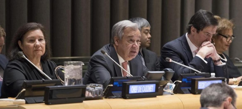 Guterres disse que a reforma das Nações Unidas nunca estaria completa sem a reforma do Conselho de Segurança. Foto: ONU/ Eskinder Debebe.