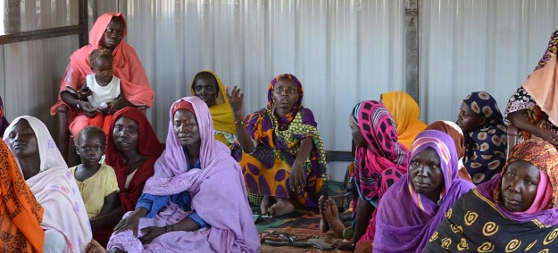 Refugiados sul-sudaneses no acampamento de Al Nimir em Darfur Oriental. Foto: Ocha/Sudão.