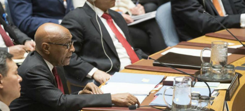 Tayé-Brook Zerihoun, Subsecretário-General Adjunto para Assuntos Políticos durante a reunião do Conselho de Segurança. Foto: ONU/Eskinder Debebe