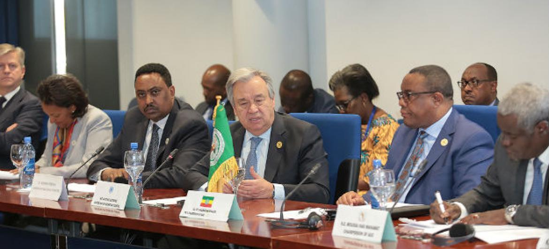 António Guterres participa de encontro de alto nível na Cimeira da União Africana. Foto: ONU-Antonio Fiorente