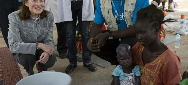 Henrietta Fore no Sudão do Sul. Foto: © UNICEF/UN0156595/Prinsloo
