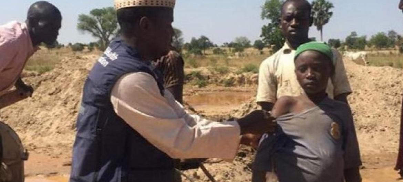 Campanha de vacinação em curso na Nigéria. Foto: OMS.