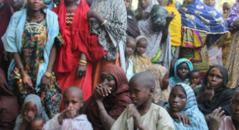 Refugiados nigerianos. Foto: Irin/Anna Jefferys