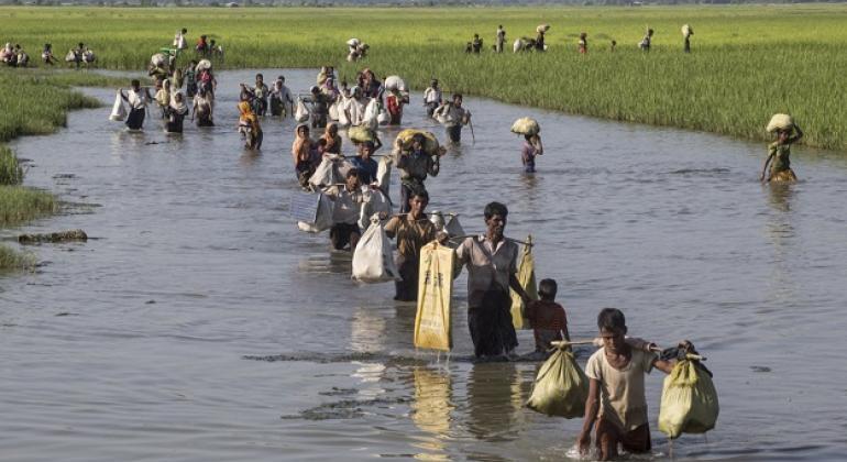 Maioria dos refugiados teve suas casas e aldeias destruídas. Foto: Unicef/LeMoyn.