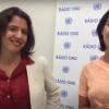 Duas redatoras da Rádio ONU em Português, Laura Gelbert e Leda Letra, foram aprovadas no concurso YPP em 2012. Imagem: Reprodução vídeo.