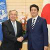 António Guterres e Shinzo Abe. Foto:Unic Tóquio.