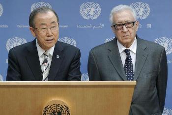 Ban Ki-moon anuncia saída de Lakhdar Brahimi. Foto: ONU/JC McIlwaine