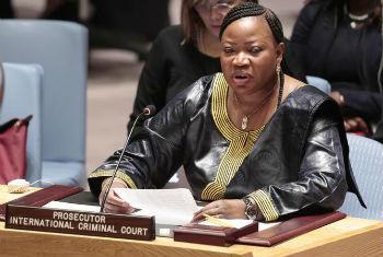 Fatou Bensouda discursa no Conselho de Segurança. Foto: ONU/Evan Schneider