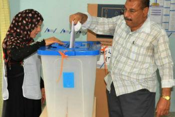 Eleições no Iraque. Foto: Unami