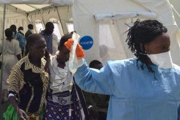 Centro de Tratamento de Cólera, Hospital de Juba. Foto: Unicef