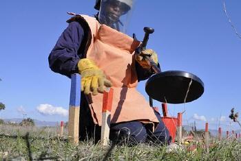 Desafios para o banimento de minas.Foto: