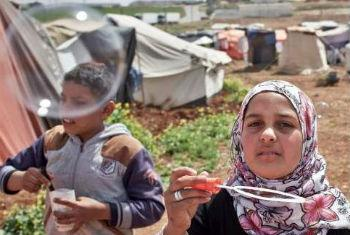 Crianças sírias em acampamento para deslocados na Jordânia. Foto: Acnur/S. Baldwin