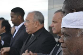 Evento reuniu representantes da ONU, do governo, líderes religiosos, entre outros parceiros. Foto: Unic Rio/Gustavo Barreto