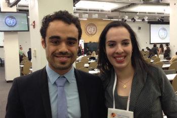 Karim Ibrahim e Yasmin Mohammed. Foto: Rádio ONU