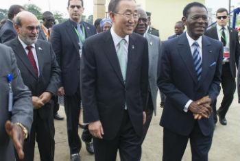 Ban Ki-moon no lançamento da iniciativa, em Malabo. Foto: ONU/Eskinder Debebe