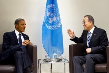 Obama em visita à ONU em 2013