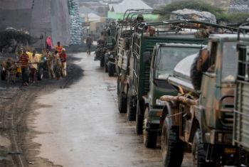Tropas quenianas na cidade de Kismayo. Foto: ONU/Stuart Price