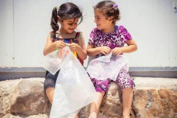Meninas refugiadas sírias. Foto: Acnur/J. Kohler